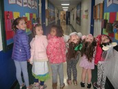 Wacky Kindergarten friends with their coats on backwards!