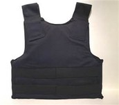 Bulletproof vest protects the person.