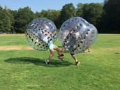 Rucker's top Summer Readers play Bubble Soccer