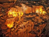 The ceiling of the cave.