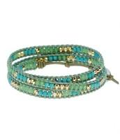 SOLD !!!!!!!!!!!!!!!!!!!       Wanderlust Triple Wrap Bracelet - Turquoise