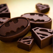 Our store sells chocolate shaped like your favourite characters!