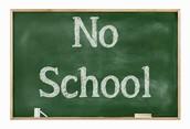 No School on Monday!