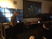 Astronomer Handles the Students Questions