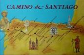 Mapa del Camino De Santiago.