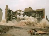 Start of the bombing