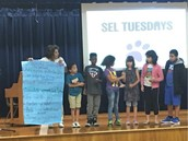 Ms. Garcia's Panthers Share Ways To Have Successful Conversations At SEL Tuesday Assembly!