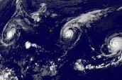 Hurricanes Forming Over Warm Ocean Waters.