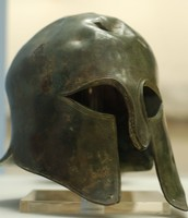 This is a spartan helmet. It was used for protection