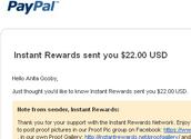 Instant Rewards sent me $22.00