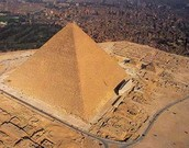 The pyramid seen from air.