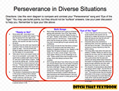 Perseverance in Diverse Situations- Perseverance Songs (Compare and Contrast)