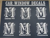 Personalized Window Decals