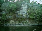 There is a rock beside the White River!
