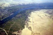 The Nile River from above