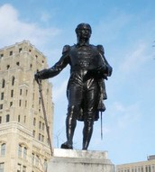 A Statue commemorated to John Simcoe.