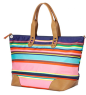 Getaway bag, multi stripe