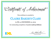 IXL: We've Completed 2,000 Math Problems!