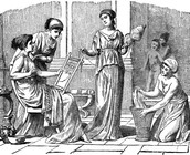 A women talking to slaves
