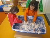 Mark making in the foam!