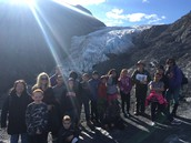 Glacier hike on a beautiful sunny day