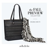 Avalon Tote & Black and Cream Tribal Geo Scarf