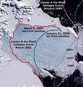 The Larsen B. Ice Shelf