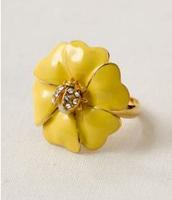 Dot Bloom Ring - Yellow