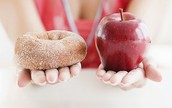 People with hyperglycemia better be picking the apple over the donut because they don't want blood sugar spikes.