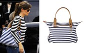 How Does She Do It - Navy Stripe