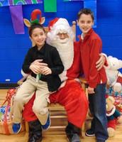 Having fun with Santa!