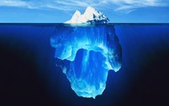 Idiom- The rat she brought to school was on the tip of the iceberg.