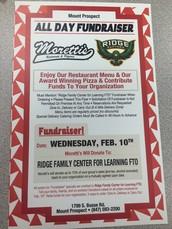 Dine n' Share Wednesday, Feb. 10-  FTO Fundraiser