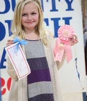 Allie with her awards at the Brown County Youth Fair