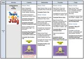 5 Week Schedule