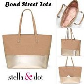 Bond Street Tote (Mink/Metallic) $50