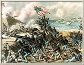 54th Massachusetts Volunteer Infantry at Fort Wagner
