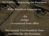 Replacing the President
