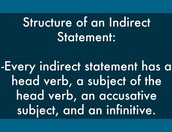 Indirect Statement