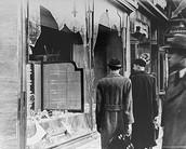 Broken Jewish shops