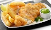 Pescado y patatas fritas