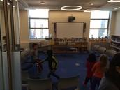 Library classroom (doors open)