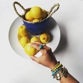 Limoncello Bead + Chain Multi-Wrap Bracelet $45