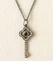 Clover Key Necklace