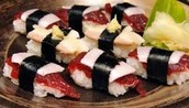 Whale sushi