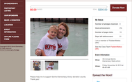Create your child's fundraising page