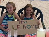 Selling lemonade at the cottage