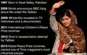 timeline of Malala's life