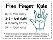 The 5 Finger Reading Rule
