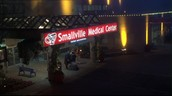 Smallville has the best service in Hospitals.